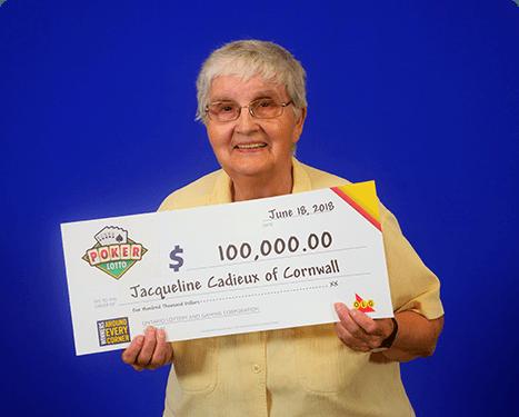 GAGNANTE RÉCENTE À Poker Lotto - Jacqueline