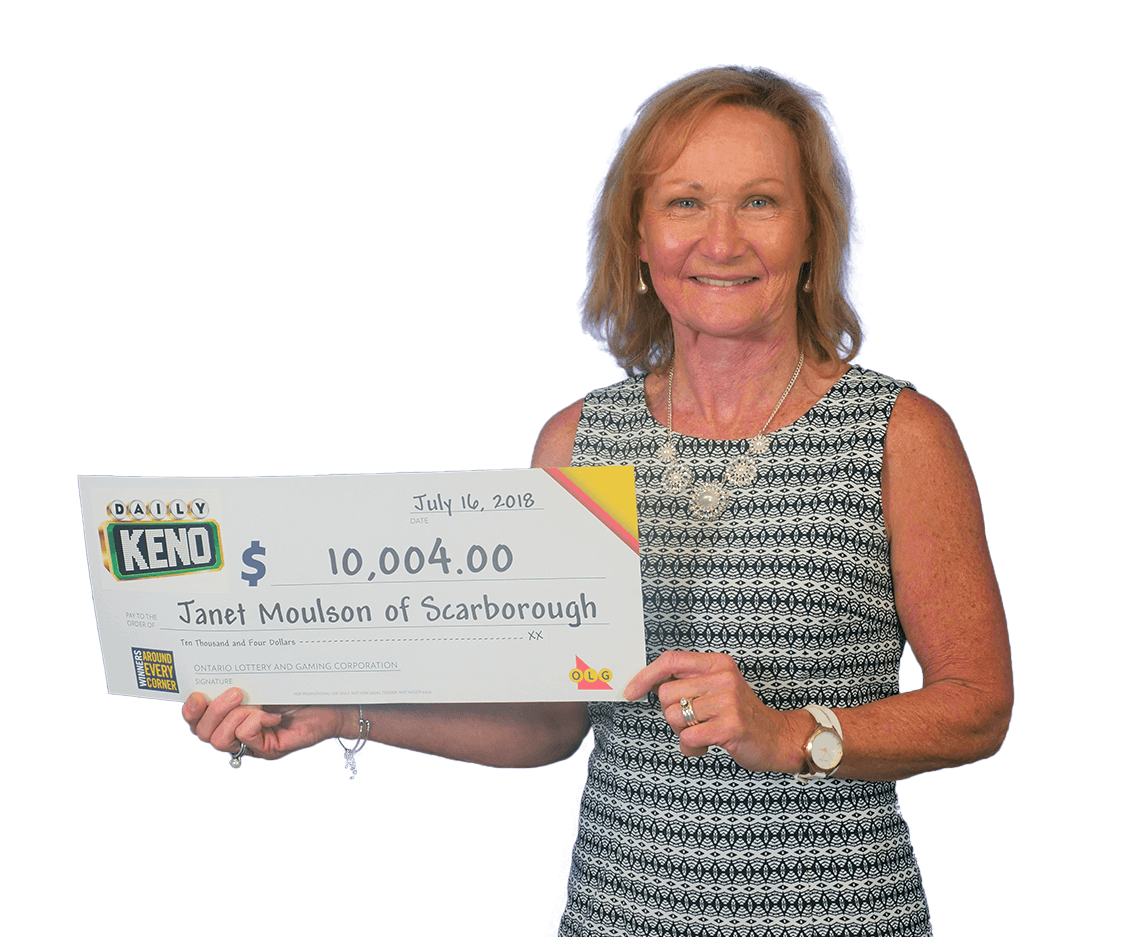 RECENT Daily Keno WINNER - Janet