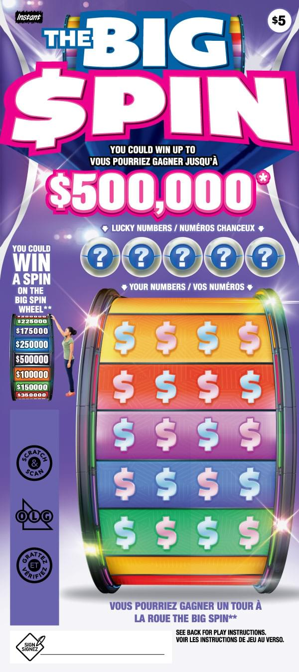 The Big Spin Ticket Prize Claim Info Olg