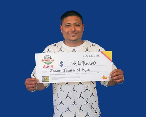 RECENT Poker Lotto WINNER - Jason