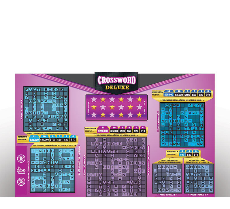 Crossword Deluxe 2065 ticket