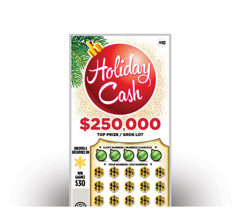 Holiday Cash ticket