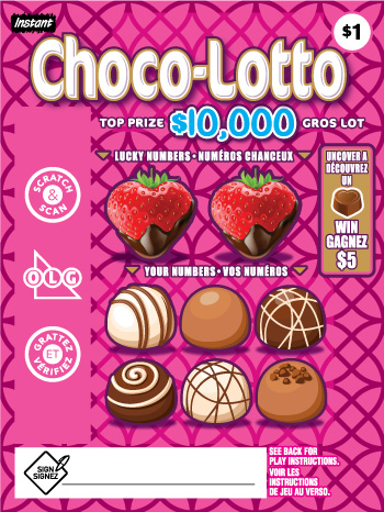 Choco Lotto 2127 ticket