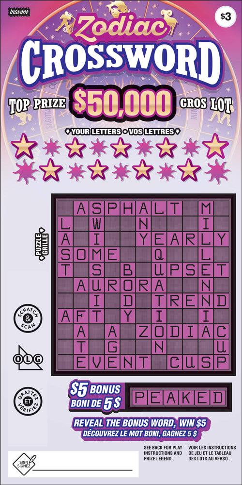 Instant Crossword Ticket 3223