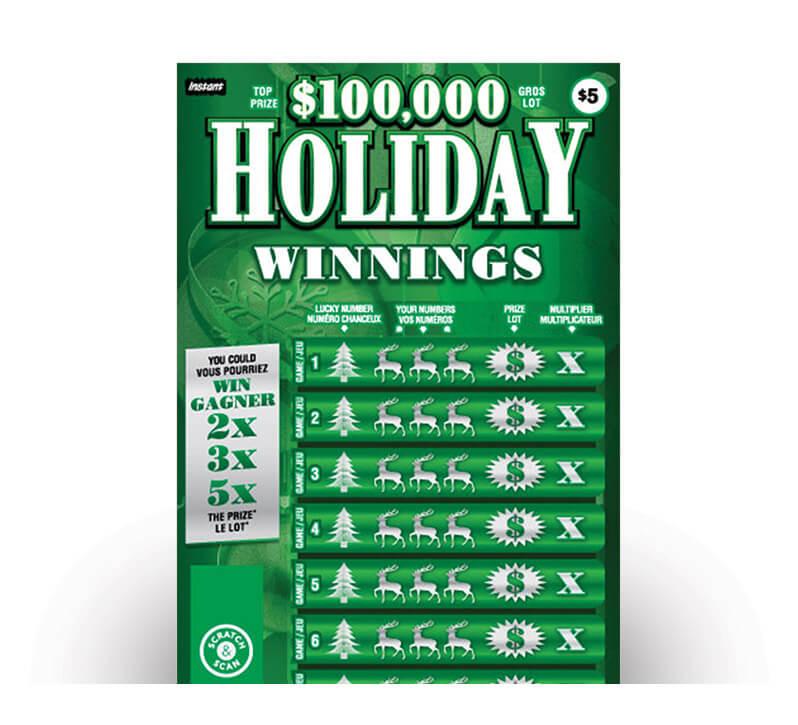 Holiday Winnings 2164 ticket