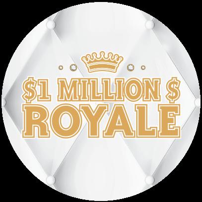 $1 MILLION $ ROYALE logo
