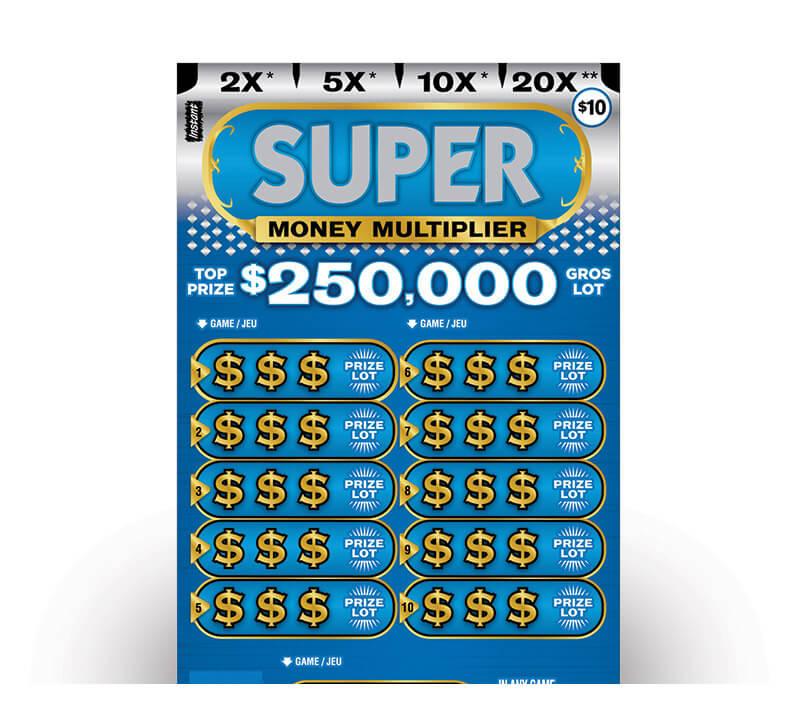 Super Money Multiplier 2162 ticket