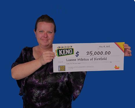daily keno winner