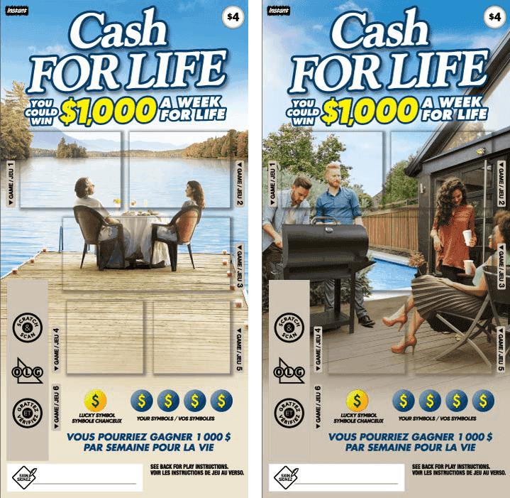 Deux billets Cash for Life 1176
