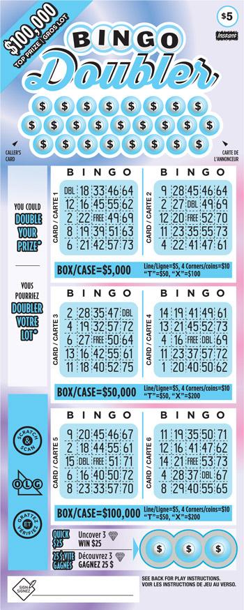 Bingo doubler 2120 ticket