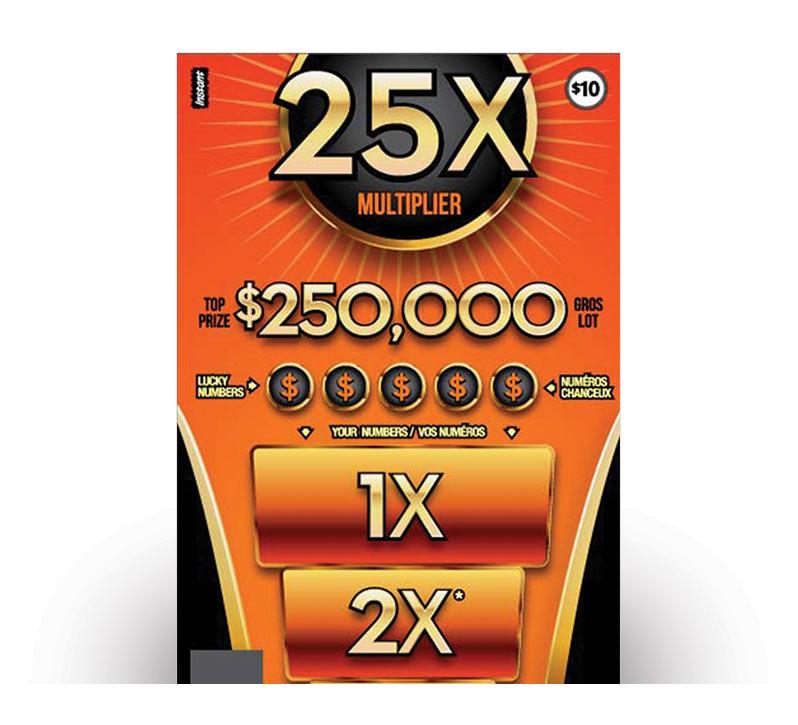 25X Multiplier 2129 ticket