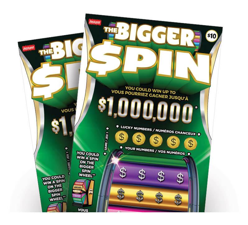 Two the big spin LOTTO tickets