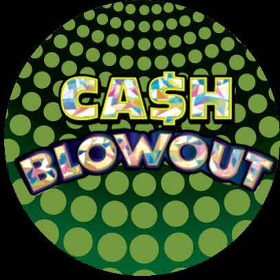 CASH BLOWOUT logo