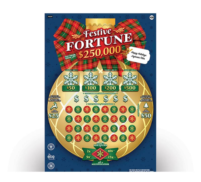 Festive Fortune 2169 ticket