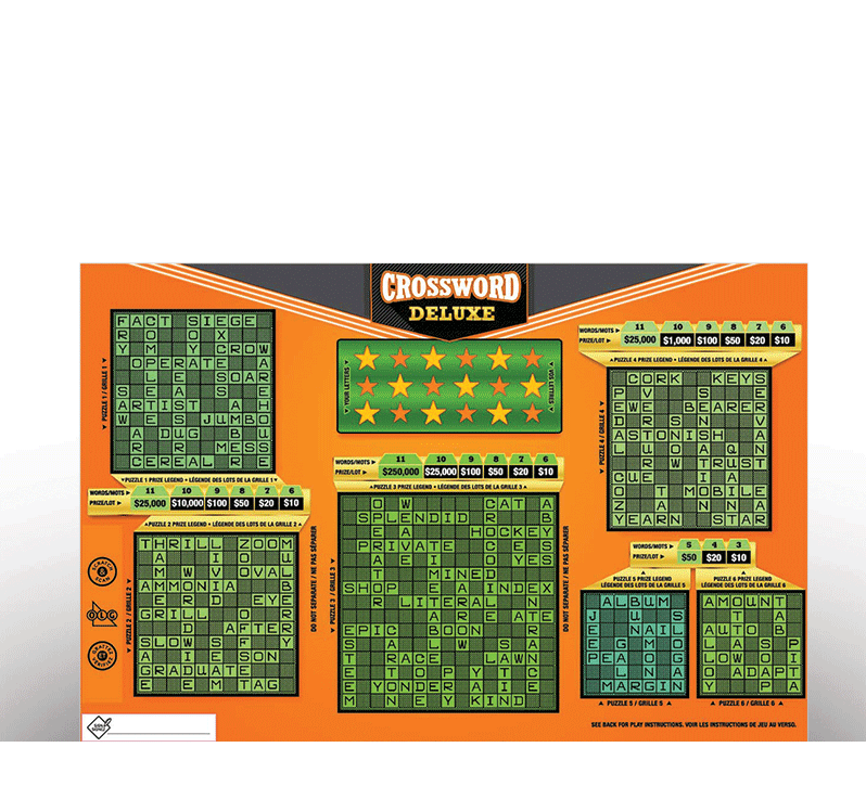Crossword Deluxe 2170 ticket
