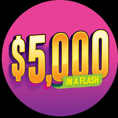 $5,000 in a flash logo