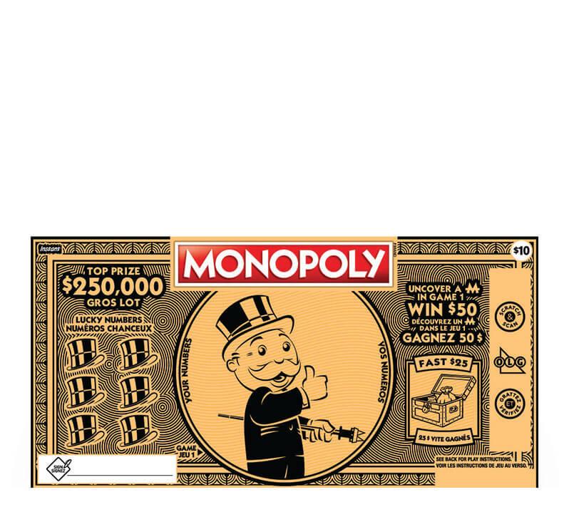 Monopoly 2175 ticket