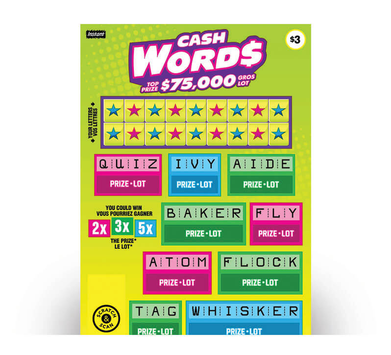 Billet Cash Words 2191