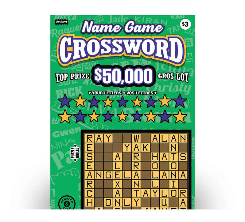 Billet Name Game Crossword 3228