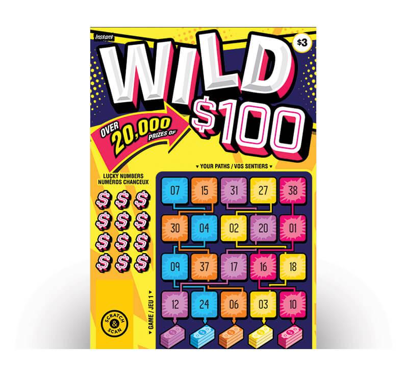 Wild $100 2177 ticket