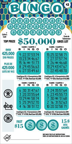 Instant Bingo 3028 ticket