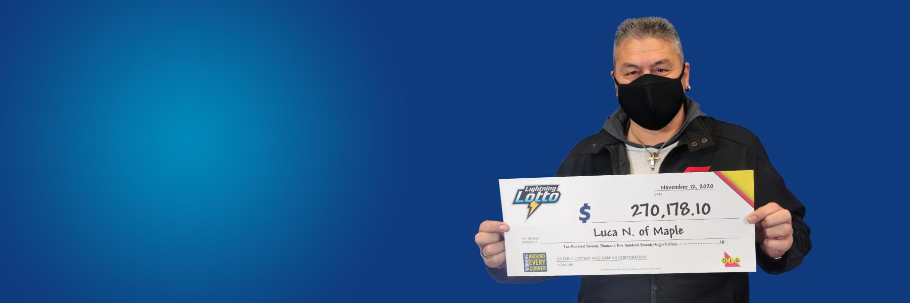 recent lightning lotto winner