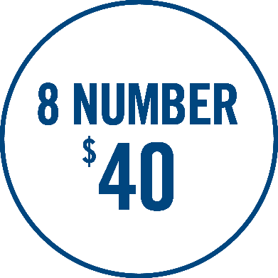 8-Number $40 graphic