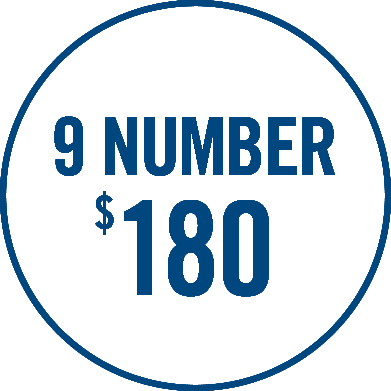 9-number $180 graphic