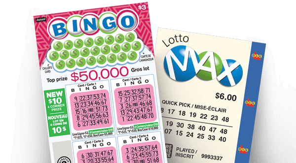 olg bingo and lotto max lottery tickets