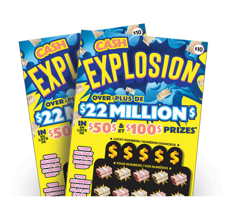 two olg cash explosion lottery tickets