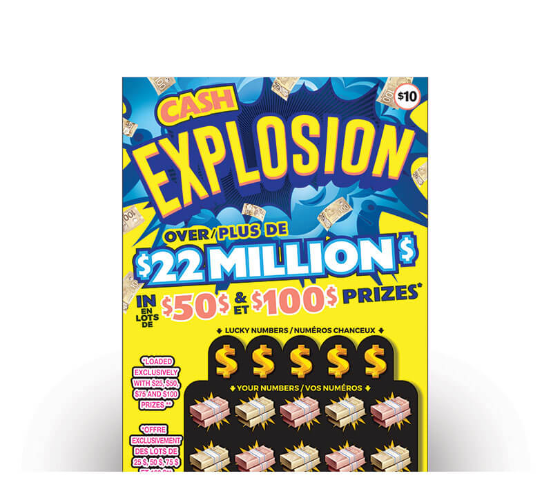 olg cash explosion lottery ticket