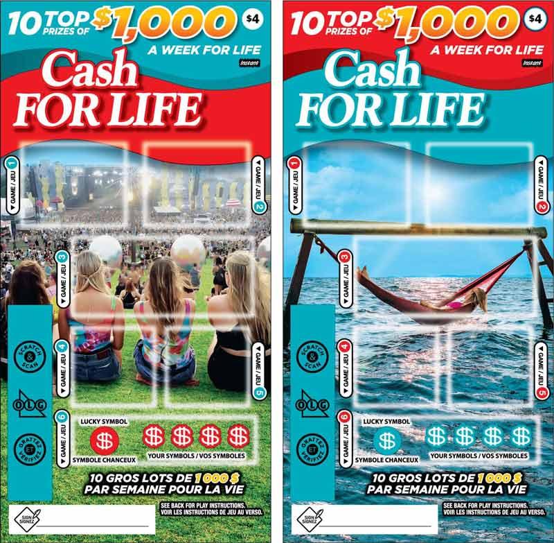 Deux billets OLG Cash for Life