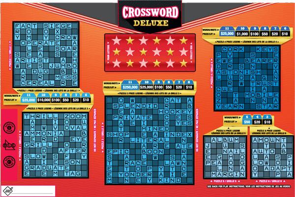 olg crossword deluxe lottery ticket