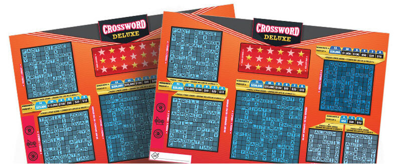 two olg crossword deluxe lottery tickets