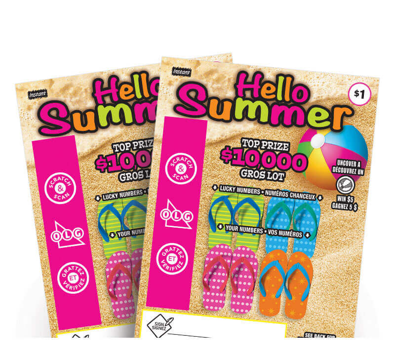 two olg hello summer lottery tickets