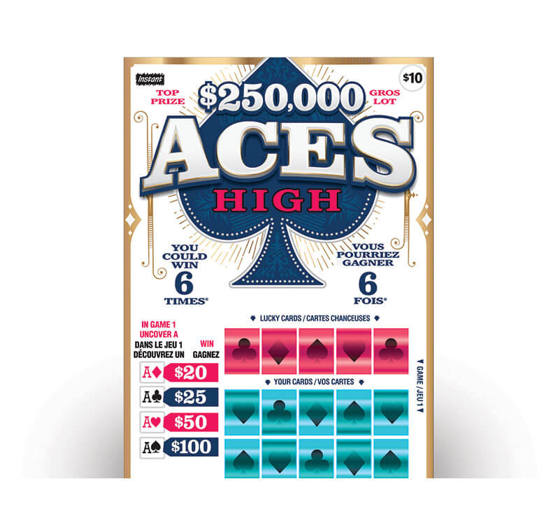 olg instant aces high lottery ticket