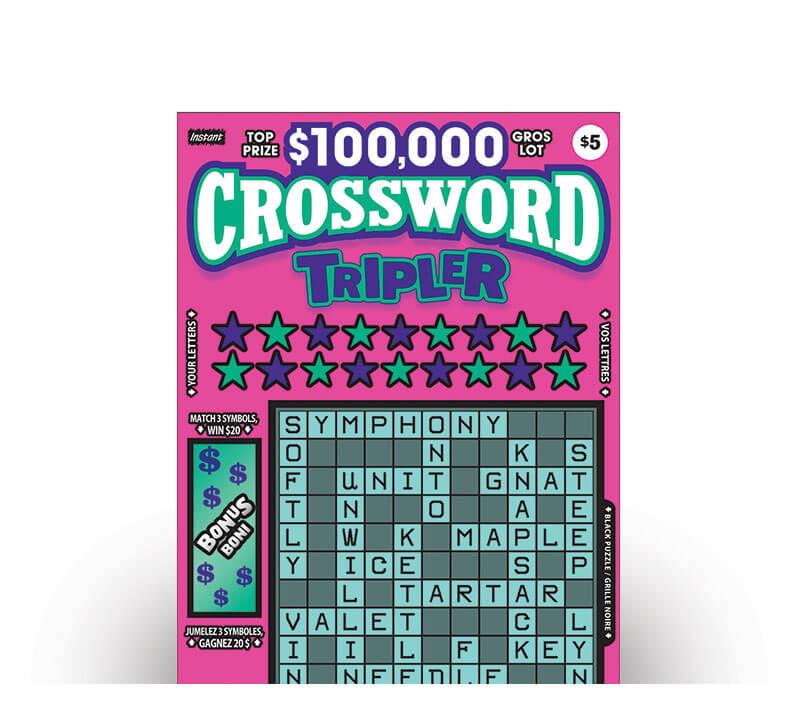 olg instant crossword tripler ticket