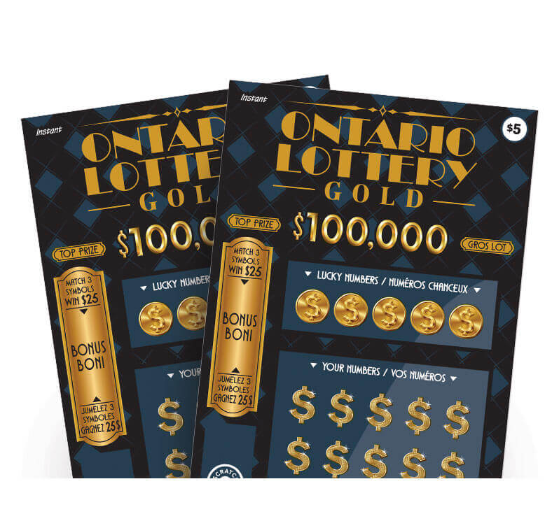 two olg ontario lottery gold tickets