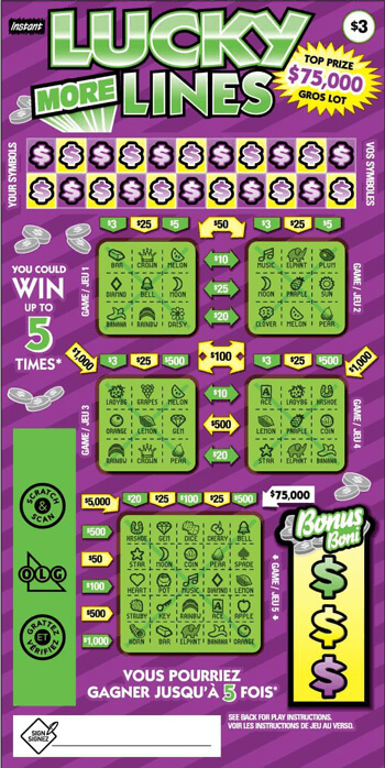 olg more lucky lines lottery ticket