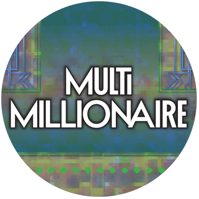 olg multi millionaire logo on circular badge